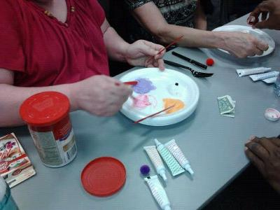 Make a plate full of different frosting for the play therapy feeling cookie.