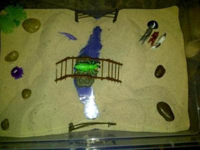 bridge sand tray therapy example and technique