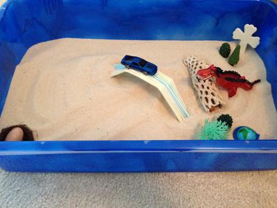 Building a Sand Tray Bridge for Sand Tray Therapy