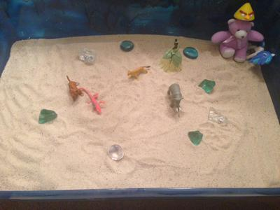 Sand Tray THerapy Childhood Sand Tray  Student 5