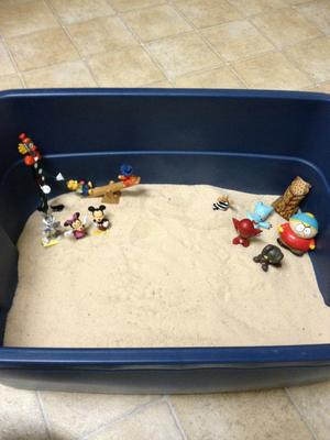 Seven Extended Sand Tray for Sand Tray Therapy / Student #4
