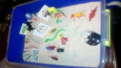 Completed Tray Extended Sand Tray Therapy
