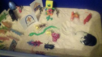 Completed tray Extended Sand Tray Therapy Final