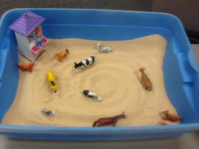 First Sand Tray in Sand Tray Therapy Class #1