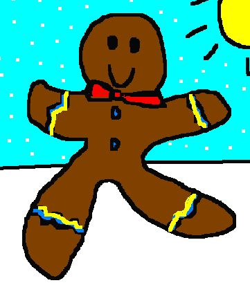 holiday gingerbread man book and game
