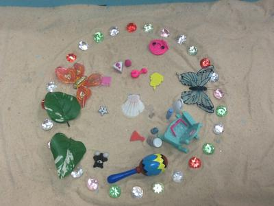 Group Mandala in a Sand Tray Therapy Class