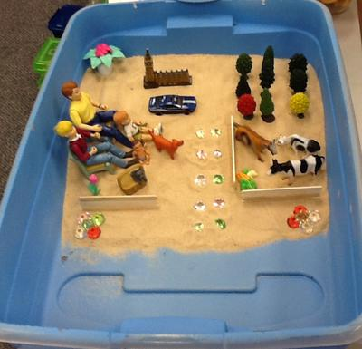 House Tree Person Sand Tray Therapy Example