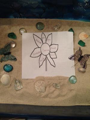 Ikebana Sand Tray Therapy Tray