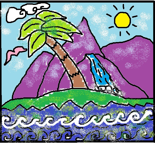 Free Adult Child Coloring Book Meditation Page Paradise Island