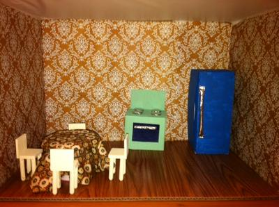 kitchen in play therapy doll house