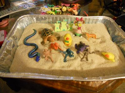 Play Therapy Sand Tray Therapy: My first sand tray!