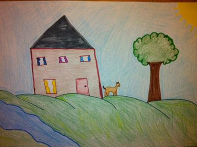 Play Therapy / Art Therapy Drawing: The House / Tree / Water / Sun / Animal Insight Drawing