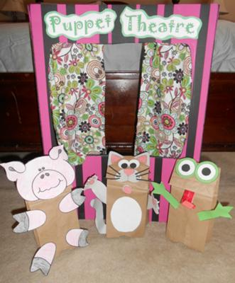 Play Therapy: Puppet Theatre with Play Therapy Puppets