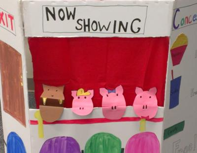 Play Therapy Puppets and Theater -The sleepover (puppet theater)