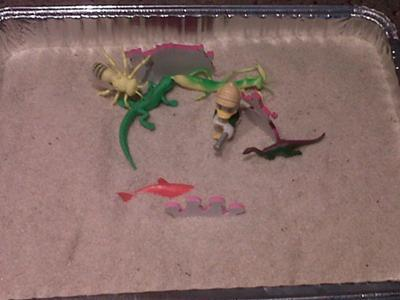 Play Therapy Sand Tray can be used in School Counseling