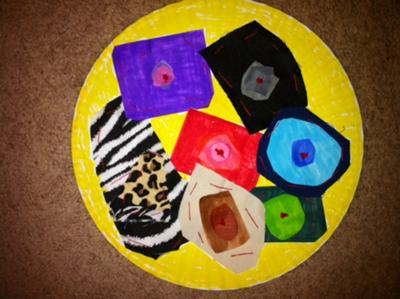 Make an easy Play Therapy Sewing Mandala for Play Therapy Clients