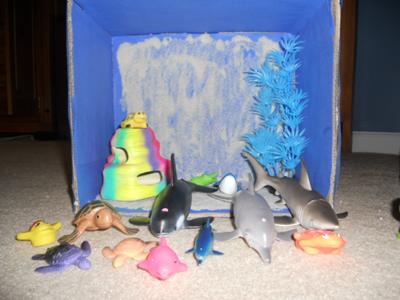 Play Therapy Mystery Counseling Session: The child can play with the box standing up.