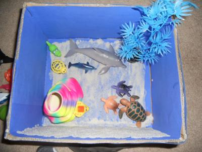 Play Therapy Mystery Counseling Session: The child can play with the box by laying it down.