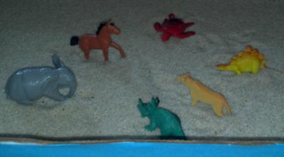 My first sand tray training as a school counselor!