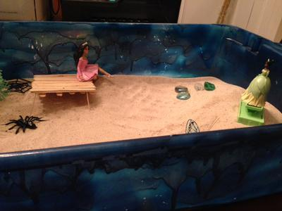 I am building a sand tray bridge for sand tray therapy class.