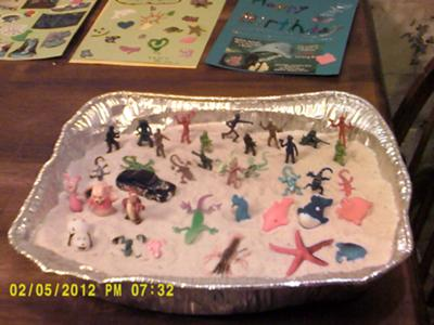 Sand Tray Example with Play Therapy Class