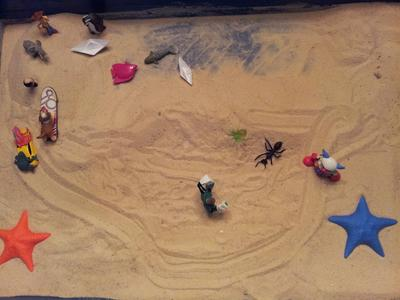 Sand Tray Therapy Kinetic Drawing