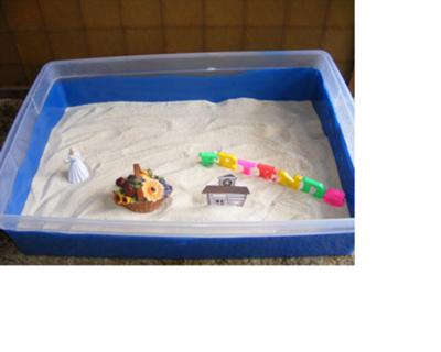 Sand Tray Therapy Activity: Maslow's Hierarchy Sand Tray Therapy Photo # 2 of 4