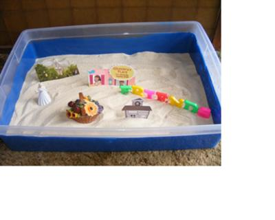 Sand Tray Therapy Activity: Maslow's Hierarchy Sand Tray Photo # 3 of 4