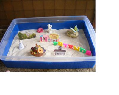 Sand Tray Therapy Technique: Maslow's Hierarchy Sand Tray Therapy Photo # 4 of 4