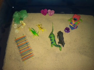 Sand Tray Therapy Student #5- Extended Tray Project #1
