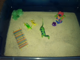 Sand Tray Therapy Student #5- Extended Tray Project #4