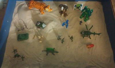 Sand Tray Therapy - Anger Management Tray By: Marie