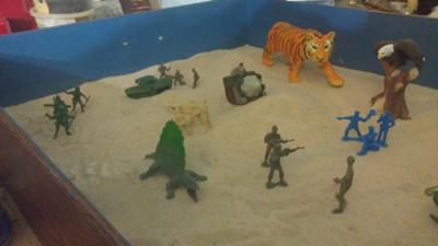 Sand Tray Therapy - Anger Management Tray #3 By: Marie