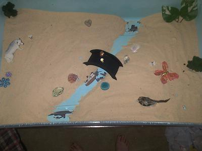 Sand Tray Therapy Bridge
