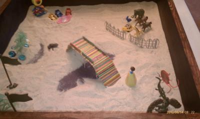 Sand Tray Therapy - Building My Bridge #2 Summer 2012