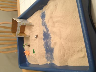 Sand Tray Therapy Class Assignment: House, Tree, Water, Sun, Animal Sand Tray Student #4
