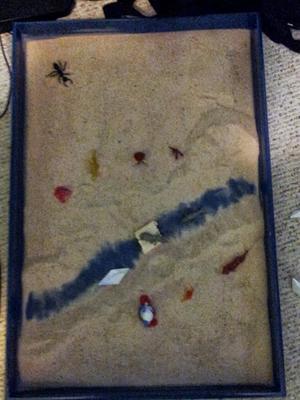 Sand Tray Therapy Class: Bridge Assignment - Jonathan V., Mercer Univ. Student, Summer 2013