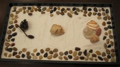 Sand Tray Therapy Class --Zen Garden Student #2