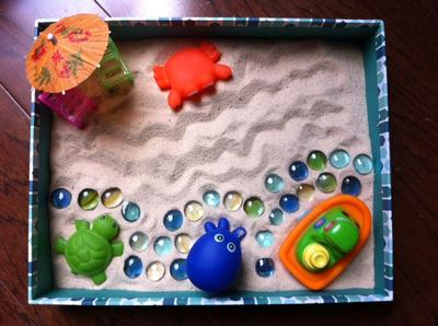Sand Tray Therapy Class: Zen Garden Student #7, #1