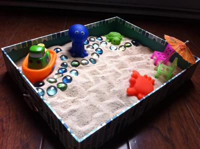 Sand Tray Therapy Class: Zen Garden Student #7, #3
