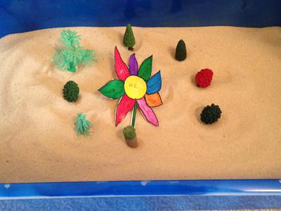 Sand Tray Therapy Project: Ikebana Flower Sand Tray