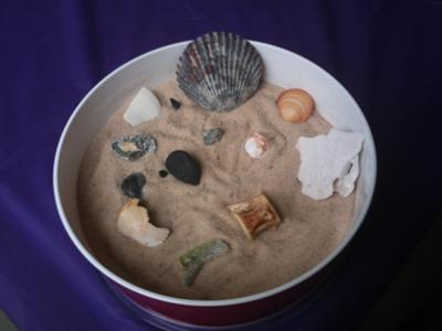 Sand Tray Therapy Zen Garden - Full Pic