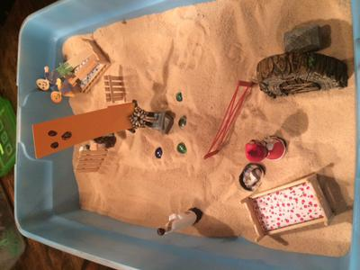 Dream Analysis Sand Tray Therapy #1 Example