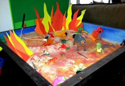 Sandtray Therapy Class- Anger Management Sand Tray - Student #1 - Charity S. Tray 2
