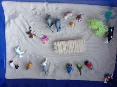 Sandtray Therapy Class Assignment: Extended Sandtray Journal, Student #1, Sand Tray Therapy Picture 2