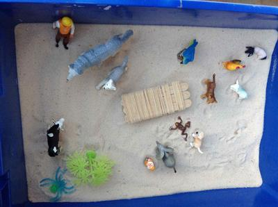 Sandtray Therapy Class Assignment: Extended Sandtray Journal, Student #1, Sand Tray Therapy Picture 3