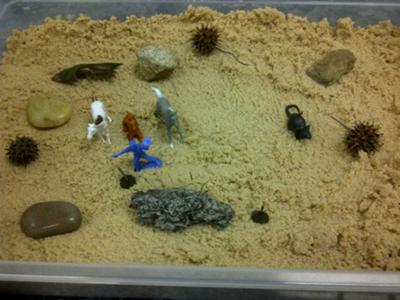 Sandtray Therapy Class Dream  Analysis Tray