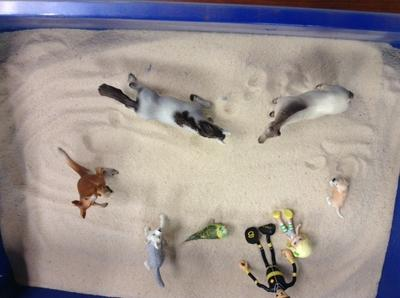 Sandtray Therapy Class-Dream Analysis, Student #1