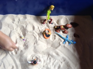 Sandtray Therapy Final: Family Story Lesson plan, Student #1 , Picture Two