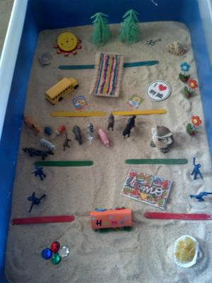 Maslow's Hierarchy of Needs Sandtray Therapy Example #2